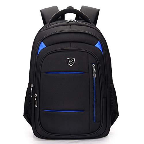 ポータブルラップトップショルダーバッグビジネスカジュアル防水バックパック,黒,18インチ