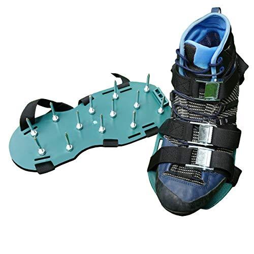 Keepa Zapato aireador de césped, zapatos de clavos, escarificadores para el cuidado del césped, modelo unisex, verde