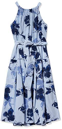 Julian Taylor Women's Sleeveless Side Tie Floral Print Dress, Denim Navy, 16