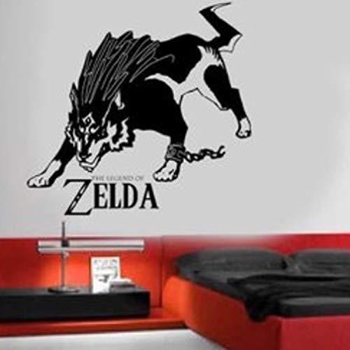 Lien Zelda Wolf Abnehmbare Wandtattoo, Vinyl, selbstklebend