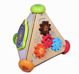 GIFT EQUALS LOVE Wooden Activity Triangle 4 in 1 with Music high Standard