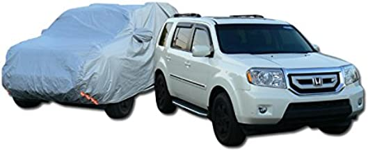 R&L Racing Universal Fit for Full-Size/Luxury SUV Car (Usually Length of Car Not Exceeding More Than 5000mm). 4 Layer Universal Waterproof CAR Cover+Mirror Pocket