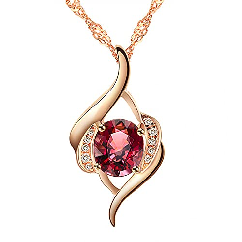 N/A Collar Mujer Cristal Rojo Colgante Regalo para Ella