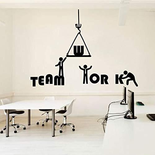 Tianpengyuanshuai Büro Wandtattoo Ideen Teamwork Business Worker Aufgeregte Büro Dekoration Aufkleber 88X63cm