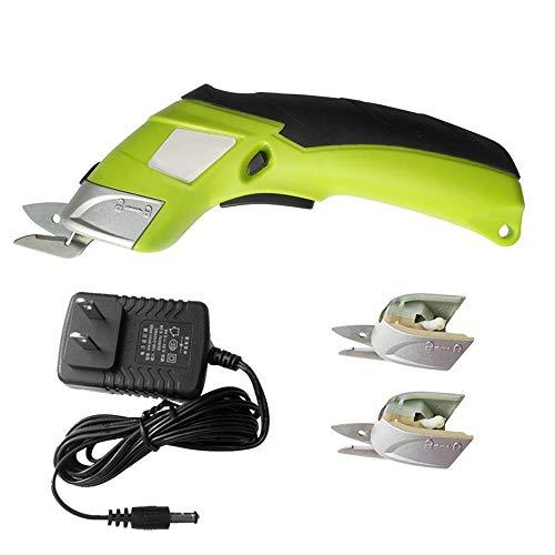 LittRur Tijeras eléctricas para tejidos, máquina de corte manual recargable, tijeras eléctricas,...