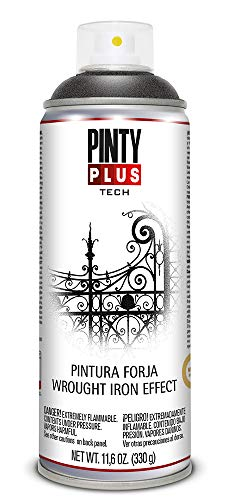 Pintyplus Tech - Pintura spray forja, color Negra FJ104/847, 400ml