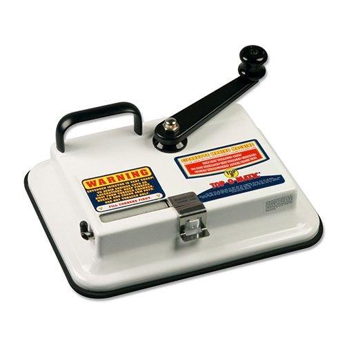 Zigarettenstopfmaschine OCB Top-O-Matic mit Hebel aus Metall in weiss schwarz