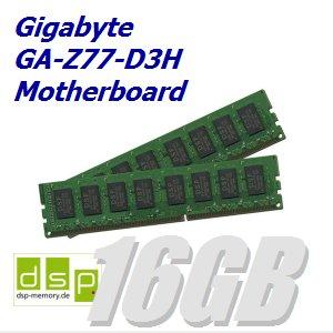 DSP Memory 16GB Speicher/RAM für Gigabyte GA-Z77-D3H Motherboard (Set aus 2 Modulen)