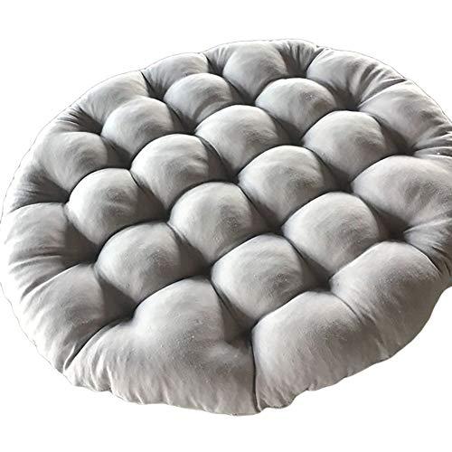 ADSEA Tatami Thicken Floor Mats,Futon Hanging Egg Hammock Chair Pads for Garden Dining Chair,Round Papasan Seat Patio Cushion