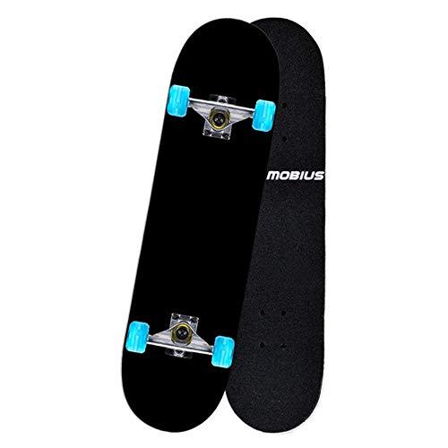 S$S Skateboard Maple Skateboard, Anfänger Straße Brush Street Erwachsene Kinder Double-Up Skateboard Jugend 4-Rad-Skateboard 78X20cm,A