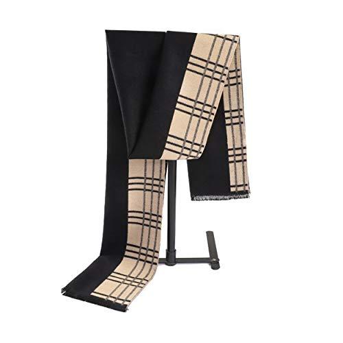 LCSD Bufandas Motley Caliente for Hombre otoño Invierno de la Bufanda de Rayas Rejilla pañuelo for el Cuello del tartán de Paisley Bufandas Pañuelos de Bandelet 180 * 30cm