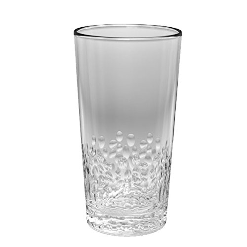 TarHong Cabo Jumbo Glass, Clear, 21.5 oz, Premium Plastic, Set of 6