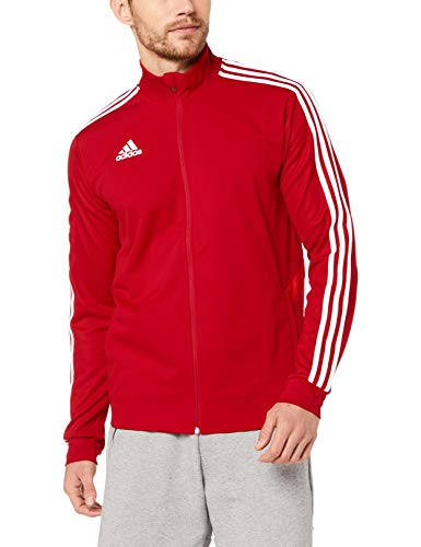 adidas TIRO 19 Training, Felpa con Zip Uomo, Rosso (Power Red/Red/White), M