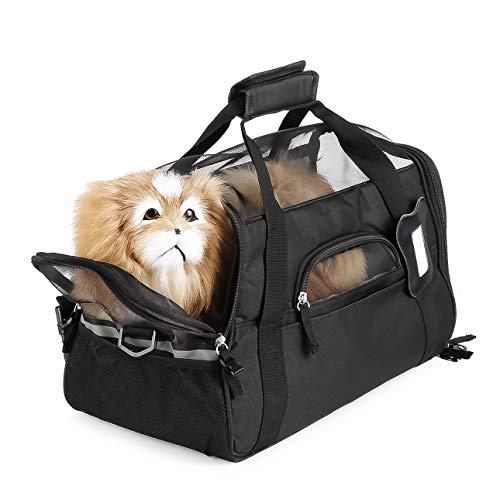 Kuyoly Bolsa de transporte de nailon impermeable para perros, gatos, cachorros, cachorros, para exteriores con cómoda manta suave para mascotas pequeñas.