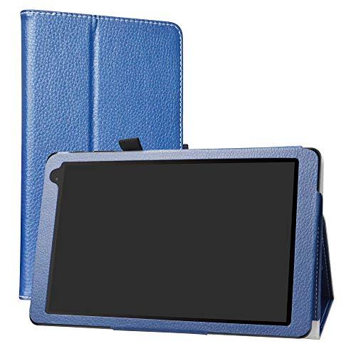 Alcatel 1T 10inch Funda,LiuShan Folio Soporte PU Cuero con Funda Caso para 10' Alcatel 1T 8082 10inch(Not fit Alcatel 1T 7 Inch 8068) Android Tablet,Azul
