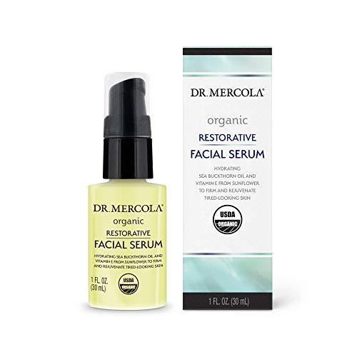 Dr. Mercola Organic Restorative Facial Serum, 1 Fl. Oz. (30 ml), non GMO, Soy Free, Gluten Free, USDA Organic
