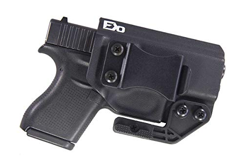 FDO Industries IWB Kydex Holster Compatible with Glock 43/43x -The Paladin Series -Made in USA- (Black)