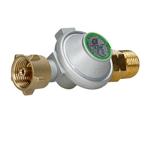ECD Germany Druckregler 2,5 bar Gasregler Gas Regler Druckminderer für Brenner Gasdruckregler Gasgrill Druckluft