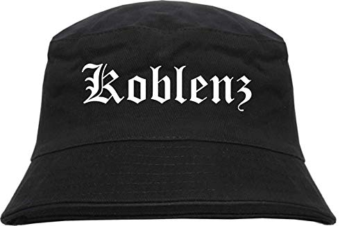sostex Koblenz Sombrero Pescado - Alemán Antiguo - Estampado - Gorro Bucket Sombrero de Pesca Sombrero - Negro, S-M