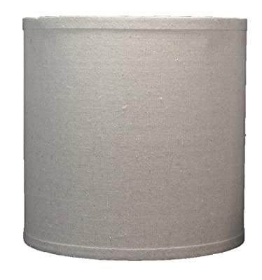 Urbanest Linen Drum Lamp Shade, 10-inch By 10-inch By 10-inch, Spider