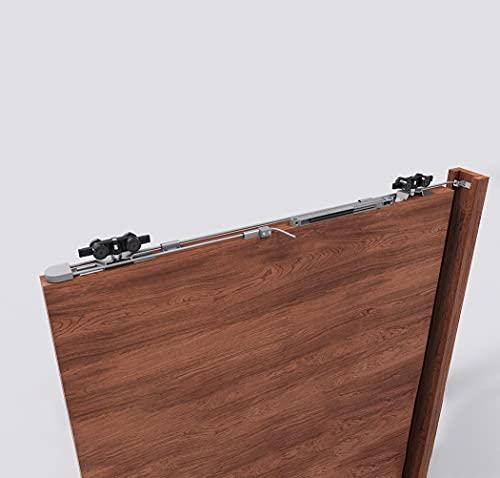 Sistema de cierre automático con amortiguador para puertas correderas ocultas, caja interior de pared.