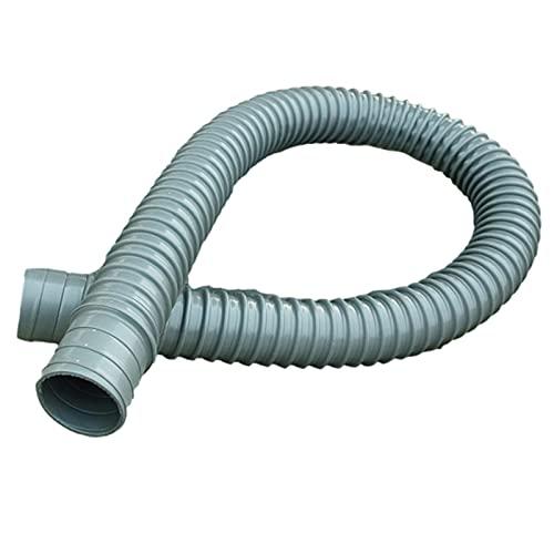 vincente Tubo de desagüe para lavabo, 80 cm, sifón flexible de PVC, diámetro de 4 cm, desagüe universal