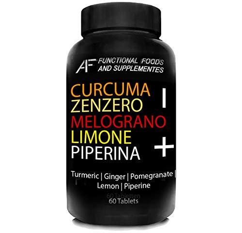 CZMLP+ A.I.F.   60 CPR   CURCUMA-ZENZERO-MELOGRANO-LIMONE-PIPERINA il BRUCIAGRASSI con i 5 + POTENTI PRINCIPI ATTIVI