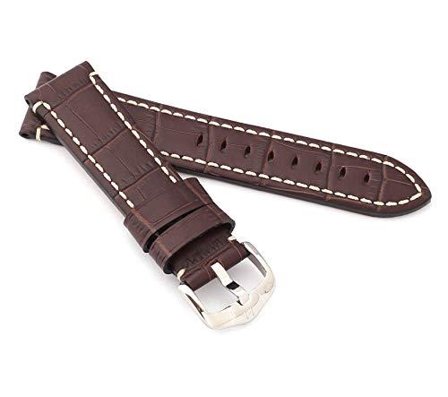 HIRSCH Alligator Style Knight - Correa para Reloj de Hombre (22 mm)
