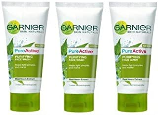 Garnier Active Neem Face Wash (50g) - Pack of 3