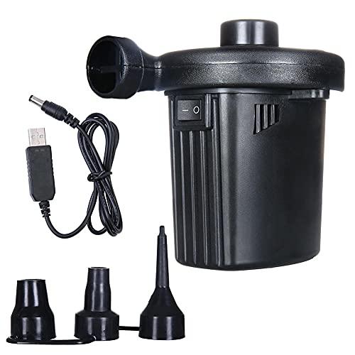 SZZY Inflador Recargable USB portátil Bomba de Aire eléctrica colchón para el hogar inflador de Bomba de Aire para Coche con 3 boquillas