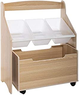 Paris Prix Atmosphera for Kids - Coffre de Rangement 3 Bacs 80cm Naturel