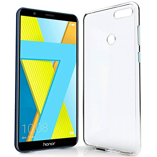 NewTop Cover Compatibile per Huawei Honor 6X/7X/9/7A PRO, Custodia TPU Clear Silicone Trasparente Slim Case Posteriore (per Honor 7X)