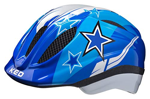 KED Meggy Helmet Kids 2019 Fahrradhelm, blue stars, S | 46-51cm
