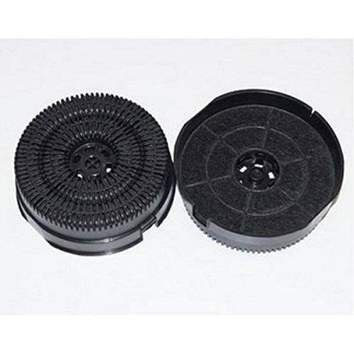 Lot de 2 filtres à charbon type 58 AKB000/1 Hotte 484000008782 WHIRLPOOL