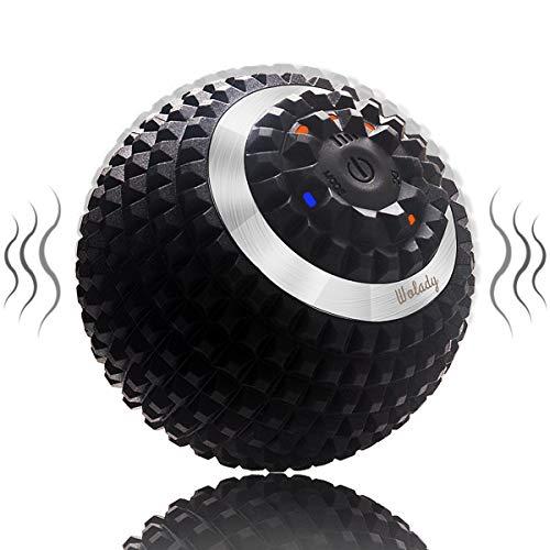 Wolady Elektrisch Massageball vibrierender Massageball Faszienball zur Selbstmassage für Muskel und Plantar USB Wiederaufladbar Schmerzlinderung Muskelspannung