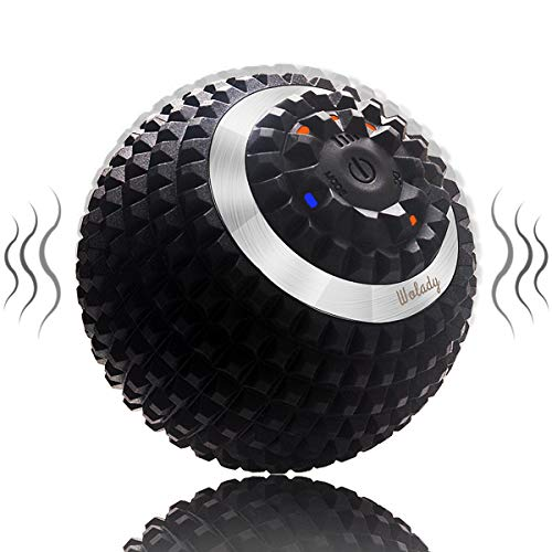 Vibrating Massage Ball Wolady 4-Speed High-Intensity Fitness Yoga Massage Roller, Relieving Muscle Tension Pain & Pressure Massaging Balls, Electric Rechargeable Washable Vibrating Massage Ball