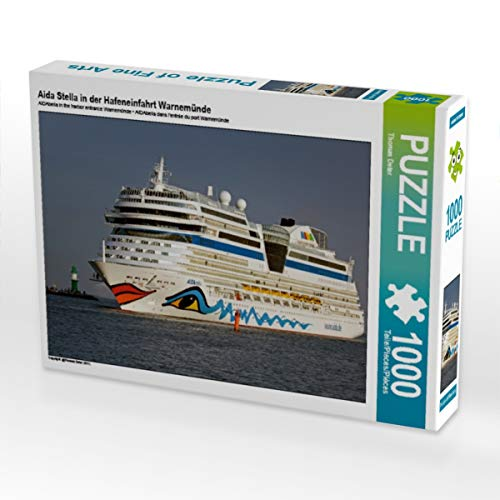 CALVENDO Puzzle Aida Stella in der Hafeneinfahrt Warnemünde 1000 Teile Lege-Größe 64 x 48 cm Foto-Puzzle Bild von FotoDeHRO