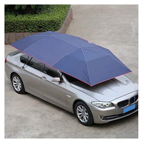LOMAX Wasserdicht Zelt, 400x210cm Dachzelt Faltbare UV-Schutz Oxford-Tuch-Auto-Regenschirm wasserdichtes Auto-Zelt Sonnenschutz Movable Carport Canopy Draussen (Color : Blue)