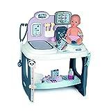 Smoby - Baby Care - Centre de Soins - Pour Poupons et Poupées - Tablette Electronique + 1 Poupon Fonction Pipi Inclus - 28 Accessoires Docteur - 240300