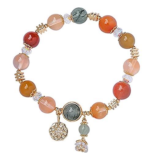 JAXRY Armband Reichtum Natürliche Farbe Haar Kristall Armband Kristall Klar Armband Glücksgeschenk Männer Und Frauen Paar Freunde