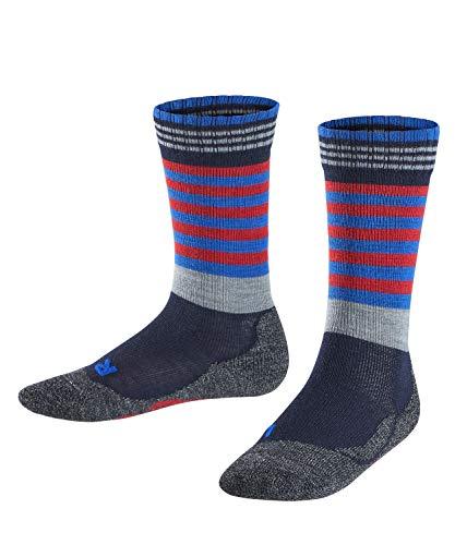 FALKE Kinder Socken Frog, Wollmischung, 1 Paar, Blau (Marine 6120), Größe: 35-38*
