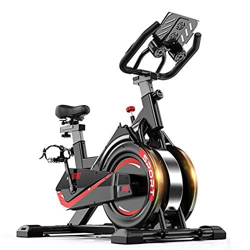 Spinning Bike Bicicleta Estática De Interior para El Hogar, Bicicleta Estática con Cojín De Asiento Ajustable, Adecuado para Bicicleta Estática De Ejercicio Aeróbico Familiar.