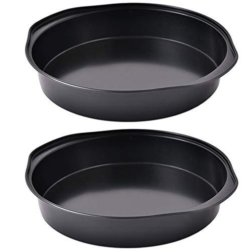 Kuchenform Rund, BESTZY Backformen für Kuchen, runde Backform aus Stahl mit Antihaftbeschichtung, eine antihaftbeschichtete runde Kuchenform für Kuchen und Torten (2er-Set)