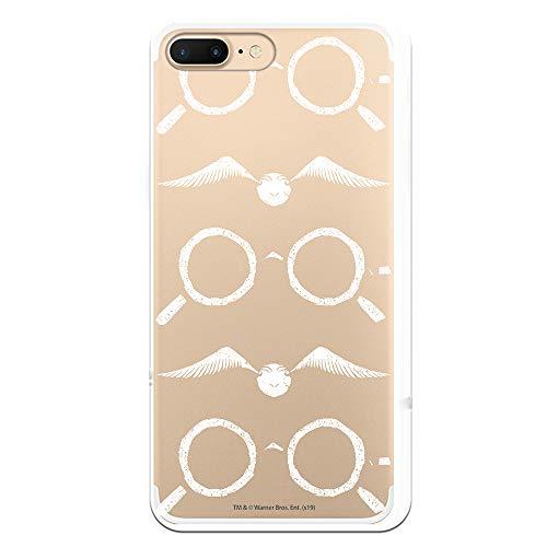 Funda para iPhone 7 Plus - iPhone 8 Plus Oficial de Harry Potter Gafas Siluetas para Proteger tu móvil. Carcasa para Apple de Silicona Flexible con Licencia Oficial de Harry Potter.