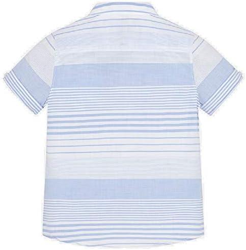 Mayoral Camisa Manga Corta Cuello Mao Rayas niño Modelo 3162 ...