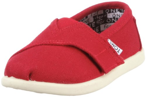 Toms Tiny Classic 13001D10 Unisex - Kinder Halbschuhe, Rot (RED) EU 21 (US 5)