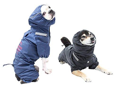 (マンダリンブラザーズ)MANDARINEBROTHERSRAINSUITSレインコート雨撥水透湿犬服ドッグウエア犬の服(L,NAVY)