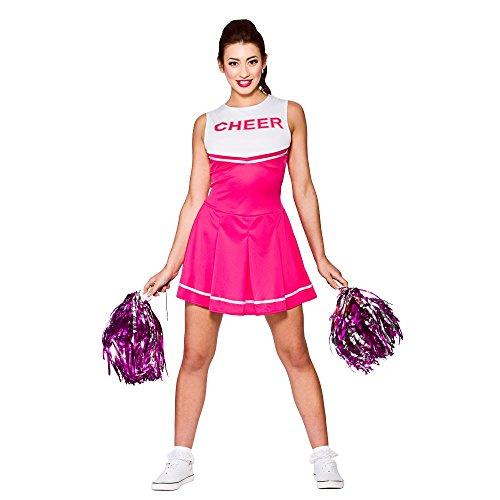 High School Cheerleader - Pink (M) Fancy Dress Costume