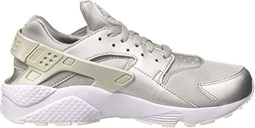 Nike Herren Air Huarache Run Premium Sneaker, Silber (Metallic Silver/metallic Silver-Pure Platinum White), 45.5 EU