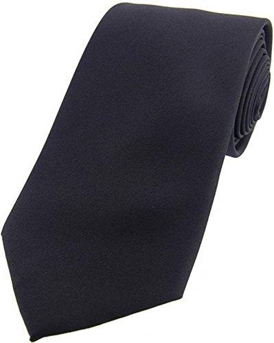 David Van Hagen Cravate gris ardoise satin de soie de